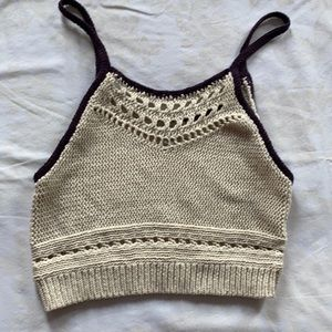 🌸3/$20🌸 AEO knitted cropped camisole